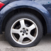 drive with flat tyre